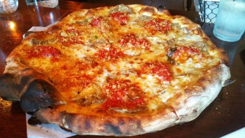 grana pizza sliced meatball